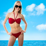 Sexuelles junges blondes Mädchen Lizenzfreies Stockfoto