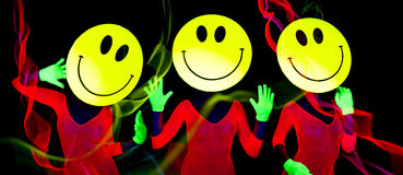 acid smiley rave dancer royalty free stock image