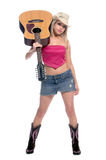 Sexy Acoustic Cowgirl Royalty Free Stock Photos