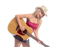Sexy Acoustic Cowgirl Royalty Free Stock Image