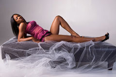 Sexy African American model. Royalty Free Stock Photo