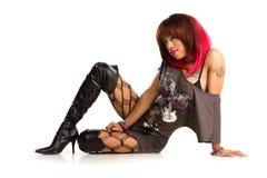 african american rocker girl royalty free stock image