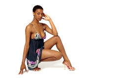 Sexy African American woman Royalty Free Stock Images