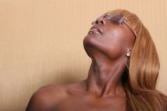 Sexy African American woman. Attractive sexy African American woman Royalty Free Stock Photos