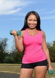 Sexy African-American woman - fitness Stock Photography