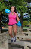 African-American woman - fitness Royalty Free Stock Images