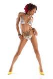 Sexy Afrikaanse Amerikaanse speld-omhooggaand Stock Fotografie