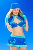 Sexy air stewardess. Hostess Stock Image
