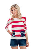 Sexy american-dressed girl Royalty Free Stock Photos