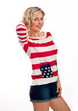 Sexy american-dressed girl Stock Images
