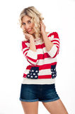 Sexy american-dressed girl Stock Image