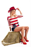 Sexy american-dressed girl Royalty Free Stock Photography
