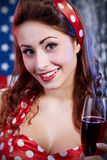 Sexy  American  Girl. Sexy Patriotic American Pin-up Girl Royalty Free Stock Image