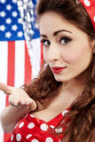 Sexy  American  Girl. Sexy Patriotic American Pin-up Girl Royalty Free Stock Photos
