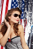 Sexy american woman Royalty Free Stock Photography