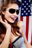 Sexy american woman Stock Images