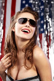 Sexy american woman Stock Photos