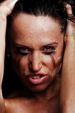 Sexy angry girl Stock Photo