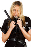 Sexy angry police sergeant Royalty Free Stock Photos