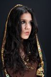 Arabian brunette. On black background stock photo
