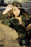Sexy army girl Royalty Free Stock Image