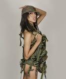Sexy army woman Stock Photos