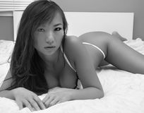 Sexy Asian beauty in lingerie Stock Photography
