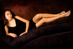 Sexy asian brunette Royalty Free Stock Photo