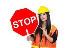 Asian construction worker Stock Photography