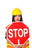 Sexy Asian construction worker Royalty Free Stock Photos