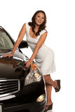 Sexy Asian Female Standing by the Car Stock Photography