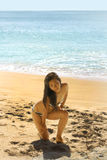 Sexy Asian Girl at Exotic Beach Stock Image
