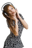 Sexy Asian girl listening to music Stock Photos