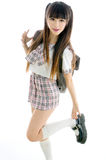 Sexy asian girl student in school uniform Stock Image