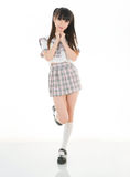 Sexy asian girl student in school uniform Stock Photos