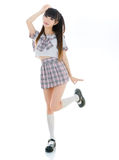 Sexy asian girl student in school uniform Royalty Free Stock Photography