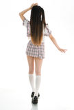Sexy asian girl student in school uniform back Royalty Free Stock Photo