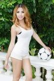 Sexy asian soccer Royalty Free Stock Photos