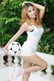 Sexy asian soccer Stock Photos