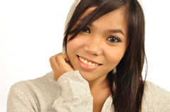 Asian woman smiling royalty free stock image