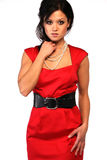 Sexy asian woman. Attractivve asian woman in red dress Royalty Free Stock Image
