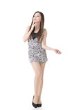 Sexy Asian woman. Full length portrait isolated on white background Royalty Free Stock Photography