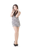 Sexy Asian woman. Full length portrait isolated on white background Stock Image