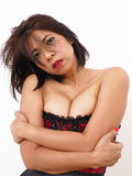 Sexy Asian woman in red corset Stock Images