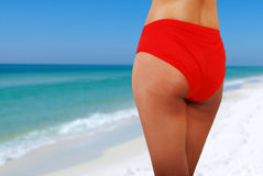Sexy ass and sea Royalty Free Stock Photo
