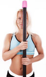 athlete with  bar Royalty Free Stock Image