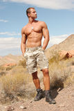 Sexy athletic handsome man - washboard abs Royalty Free Stock Photo