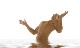 athletic man in spa Stock Image