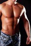 Sexy atletisch cijfer stock fotografie