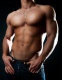 Sexy atletisch lichaam Royalty-vrije Stock Fotografie